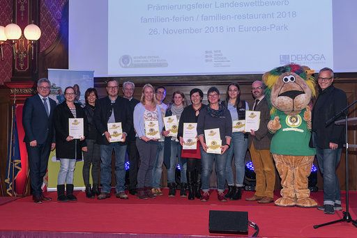 Preisverleihung von Familienferien Baden Württemberg im November 2018